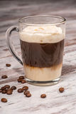 Close-up picture of tasty milk coffee dessert Stock Photos