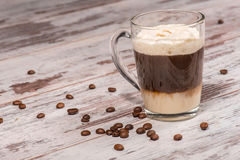 Close-up picture of tasty milk coffee dessert Royalty Free Stock Image