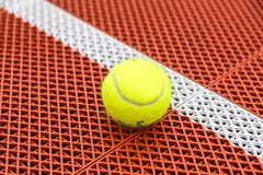 Close-up picture of a tennis ball Royalty Free Stock Image