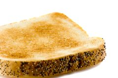 Close-up picture of a toasted bread isolated Royalty Free Stock Images