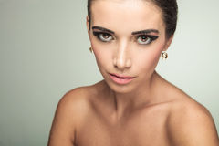 Close up picture of a young beauty woman royalty free stock image
