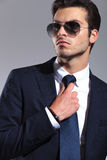 Close up picture of a young business man looking Royalty Free Stock Photo