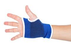 Male hand with elastic bandage isolated Stock Photo