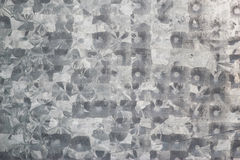 Close up of pictures, snowflake decorative pattern on tinplate Stock Image