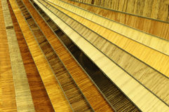Close up piece of wood color guide for sample. Samples floorboard; wood color and texture samples laminate Stock Photos