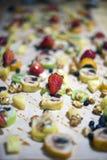 Dessert sushi rolls stock image