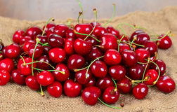 Close up of pile of cherries Royalty Free Stock Photo