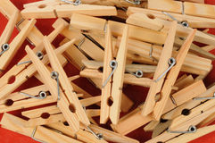 Pile of clothes peg Royalty Free Stock Images