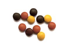 Close up  of a pile of colorful chocolate coated candy Royalty Free Stock Photography