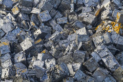 Close up of a pile of crushed cars Royalty Free Stock Photos