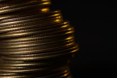 Close up of Pile of Currency Coins Royalty Free Stock Images