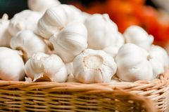 Close up of pile of garlic Royalty Free Stock Images