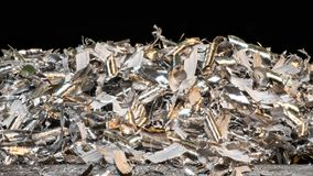 Tangle of glossy metal shavings royalty free stock photography