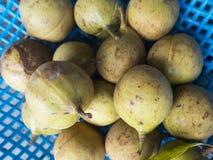 Close up of nutmeg fruits. Close up of pile of nutmeg fruits, Balik Pulau, Penang, Malaysia Royalty Free Stock Photography