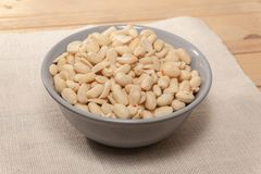 Close up of pile of peanuts. In bowl Stock Photos