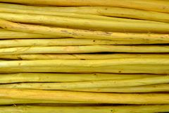 Close up Pile of Yellow Wood Sticks Background. Pile of Yellow Wood Sticks Background Royalty Free Stock Photos