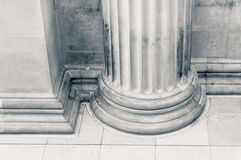 Close up of a Pillar in black and white stock photography