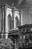Close up of a pillar of the Brooklyn bridge, New York City USA. Close up of a pillar of the Brooklyn bridge, New York City, USA royalty free stock photo