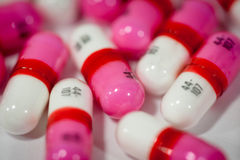 Close up of pills Stock Photo