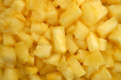 Close up of pineapple chunks Royalty Free Stock Image