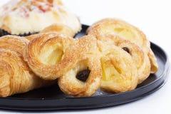 Close up Pineapple Danish Pastry Stock Photo