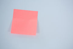Close-up of pink adhesive note Stock Photo