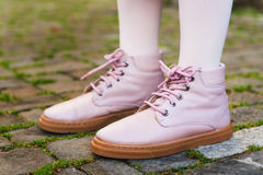 Close up of pink boots Royalty Free Stock Photography
