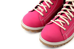 Close-up pink boots Stock Images