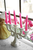 Close up pink candle Royalty Free Stock Photography
