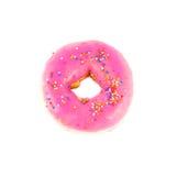 Close up pink donut Royalty Free Stock Photos