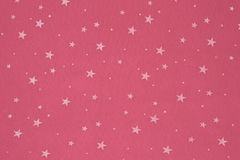 Close-up of pink felt with stars background.  royalty free stock photography