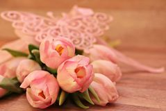 Close-up of Pink Flower Bouquet Royalty Free Stock Photo