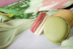 Close up pink macaron Stock Images