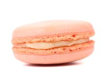 Close up of pink macaron cakes. Royalty Free Stock Images