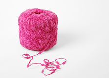 Close-up of pink skein with tail Royalty Free Stock Images