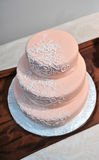 Wedding cream cake Royalty Free Stock Images