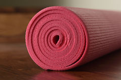 Close up of Pink Yoga Mat Royalty Free Stock Photo