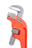 Close up pipe wrench isolated Stock Photos