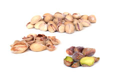 Close up of pistacios. Close up of pistachios on white background Stock Images