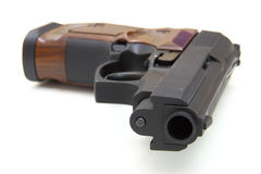 The close up of a pistol Stock Photography