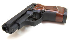 The close up of a pistol Royalty Free Stock Photos