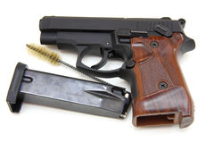 The close up of a pistol Stock Images