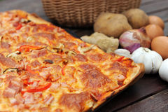 Close Up Of Pizza royalty free stock photography
