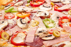 CLose Up of Pizza Topping stock photo