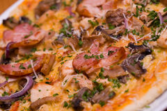 Close-up of pizza with vegetables Stock Photography