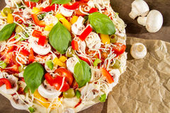 Close-up of pizzas made ��with vegetables Royalty Free Stock Image