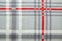 Close up of a plaid blanket Royalty Free Stock Photos
