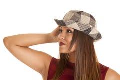 Close up plaid hat Stock Photos