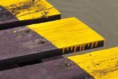 Close Up Planks of Jetty. In Thailand Bay Royalty Free Stock Images