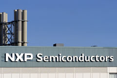 Close-up plant NXP Semiconductors Nijmegen Royalty Free Stock Photos